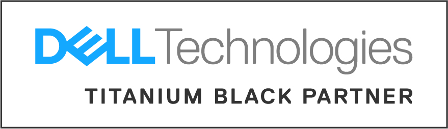 Dell Tech Titanium Black Partner Logo