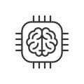 Data AI brain icon
