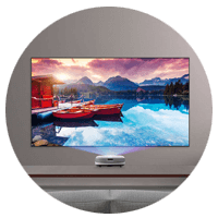 Viewsonic  Projector, Showing a Beautiful Scenery in Screen