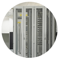 Networking and storage servers found in rack mountable enclosures in data center