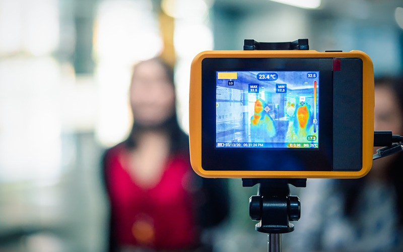 Thermal imaging being used to screen for disease