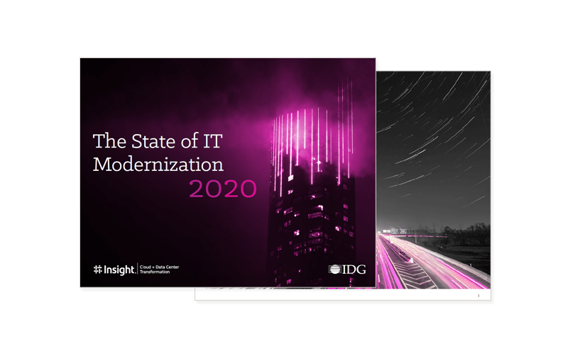 Cover of the State of IT Modernization 2020 ebook