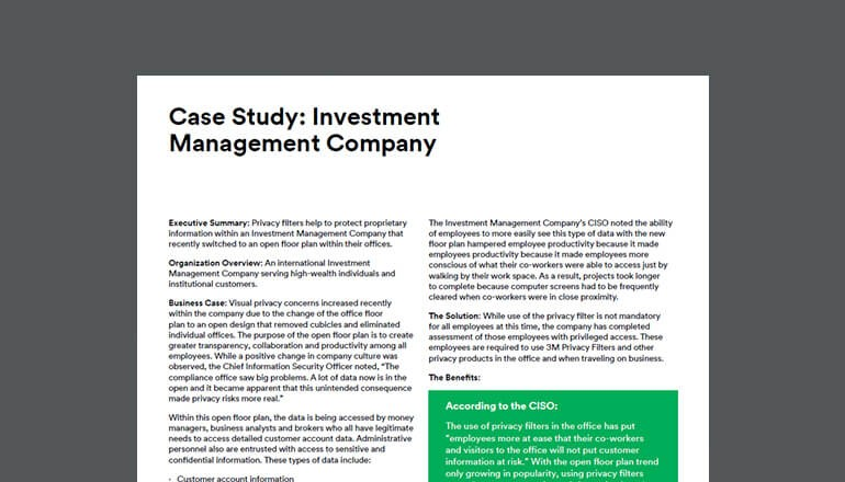 3M Case Study: Investment Management Company thumbnail