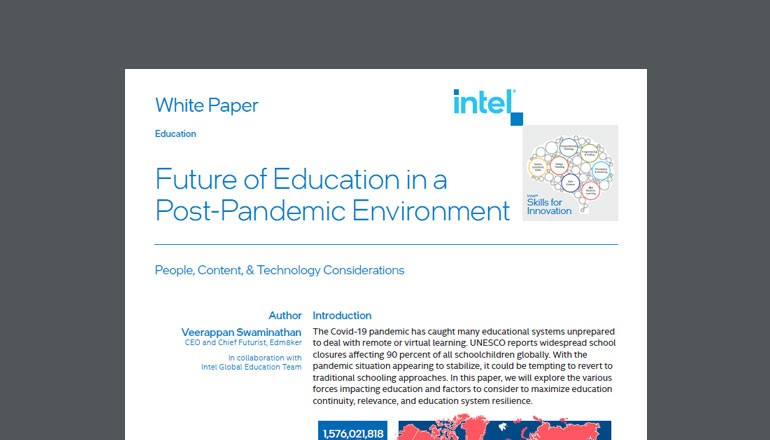 cover of Intel Educator's guide to elearning available to download below