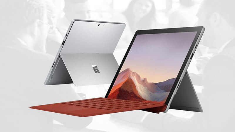 Product view of Microsoft Surface Pro 7+